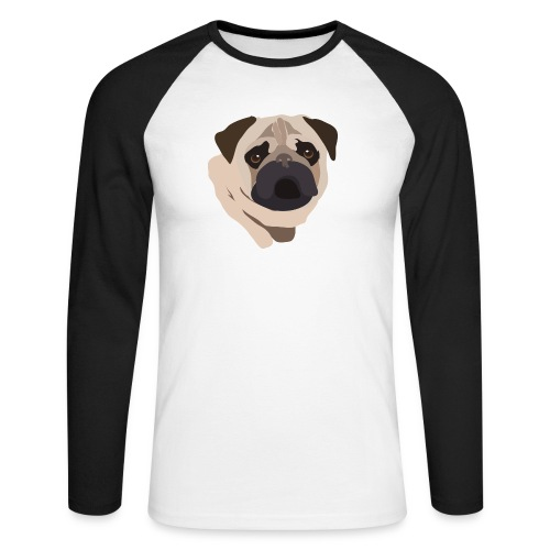 Pug Life - Men's Long Sleeve Baseball T-Shirt