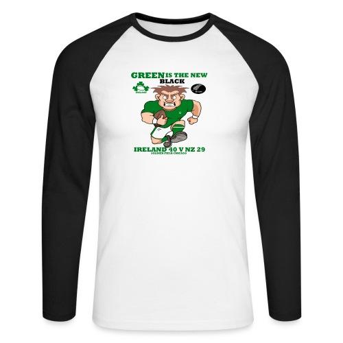 GREEN IS THE NEW BLACK !! - Men's Long Sleeve Baseball T-Shirt