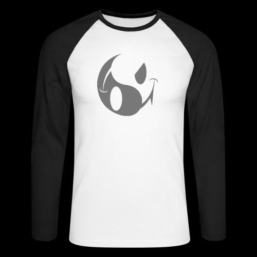 smiley yin yang - Men's Long Sleeve Baseball T-Shirt