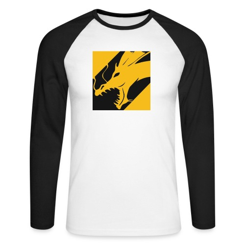 Dragon Yellow - Mannen baseballshirt lange mouw