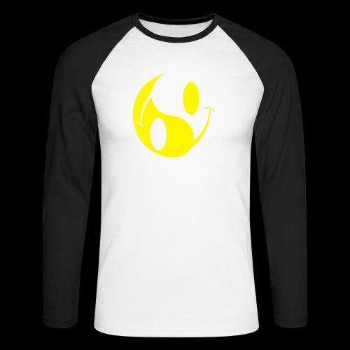 acid yin yang - Men's Long Sleeve Baseball T-Shirt