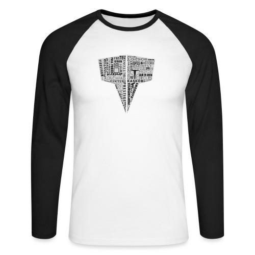 Word Logo // Kaskobi - Men's Long Sleeve Baseball T-Shirt