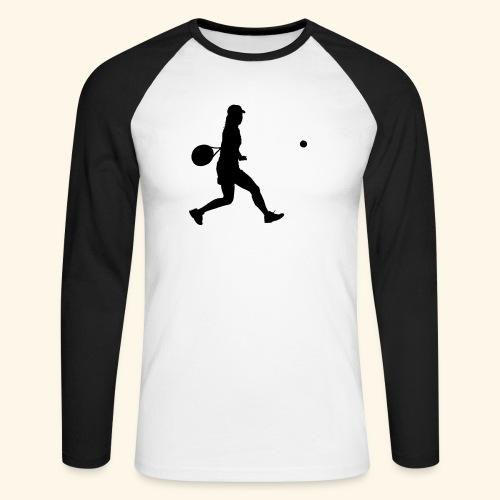 tennis woman 2 - T-shirt baseball manches longues Homme