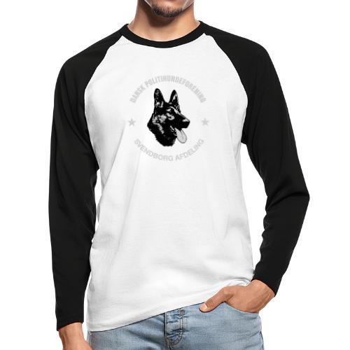 Svendborg PH hvid skrift - Langærmet herre-baseballshirt