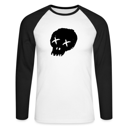 blackskulllogo png - Men's Long Sleeve Baseball T-Shirt