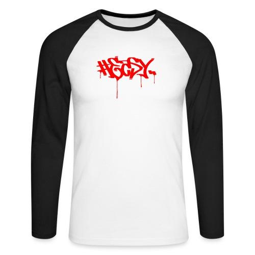 #EASY Graffiti Logo T-Shirt - Maglia da baseball a manica lunga da uomo