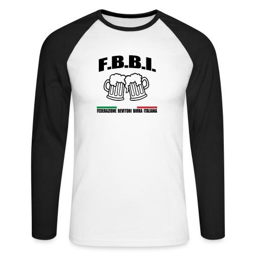 FBBI LOGO NERO - Maglia da baseball a manica lunga da uomo