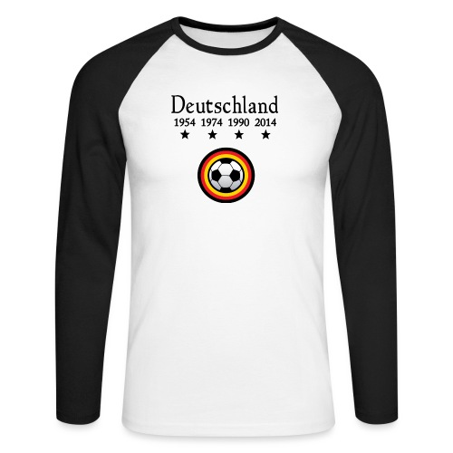 Moderne Fußball-T-Shirts Deutschland - Mannen baseballshirt lange mouw