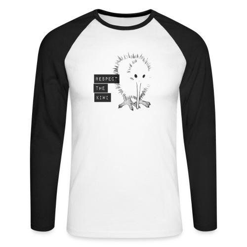 Respect the Kiwi - Männer Baseballshirt langarm