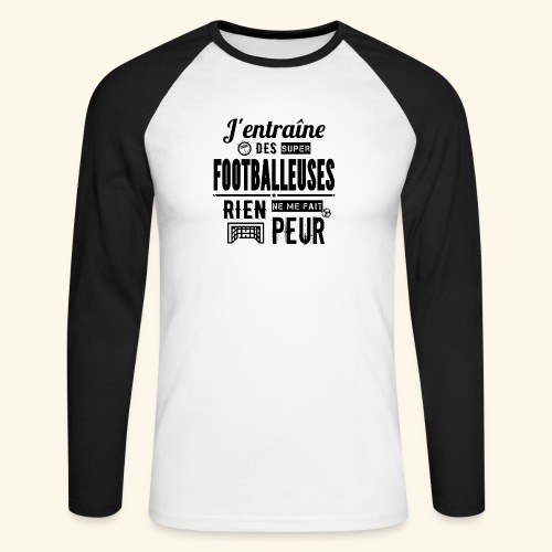 Entraîneur / coach - Footballeuse - T-shirt baseball manches longues Homme