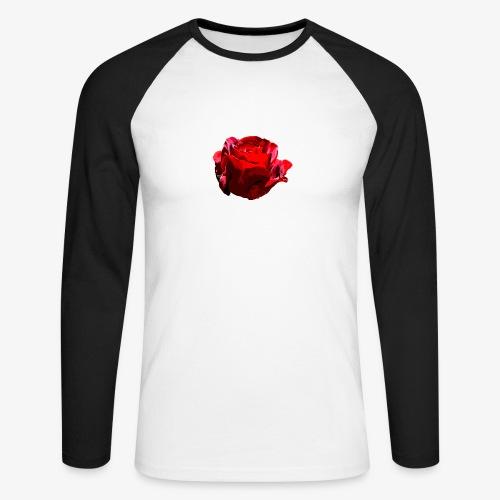 Red Rose - Männer Baseballshirt langarm