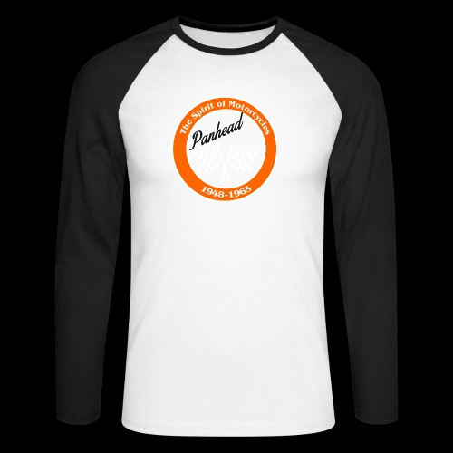 Zielflagge Panhead - Männer Baseballshirt langarm