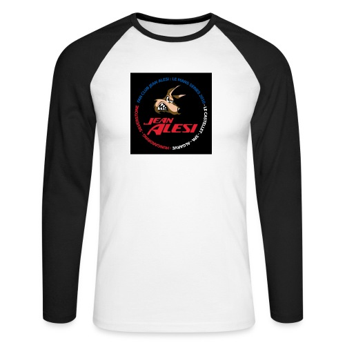 fanclubnoir - T-shirt baseball manches longues Homme