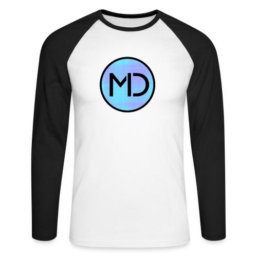 MD Blue Fibre Trans - Men's Long Sleeve Baseball T-Shirt