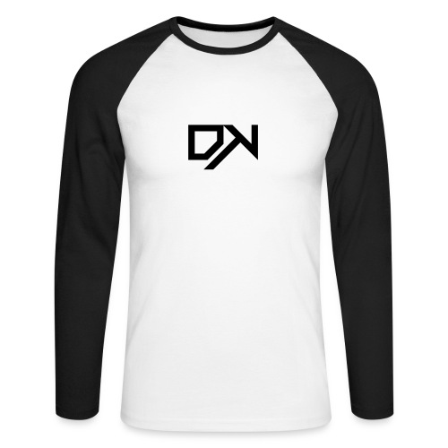DewKee Logo T-Shirt Black - Men's Long Sleeve Baseball T-Shirt