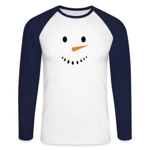 Bonhomme de neige Noël Hiver - T-shirt baseball manches longues Homme