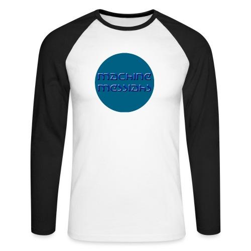 mm - button - Men's Long Sleeve Baseball T-Shirt