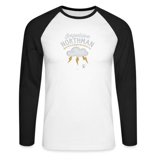 Impulsive Northman - Langærmet herre-baseballshirt