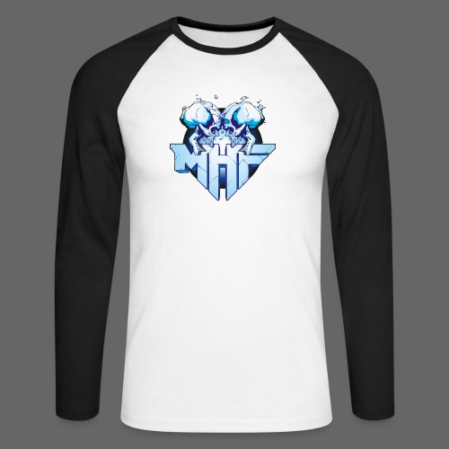 MHF New Logo - Men's Long Sleeve Baseball T-Shirt