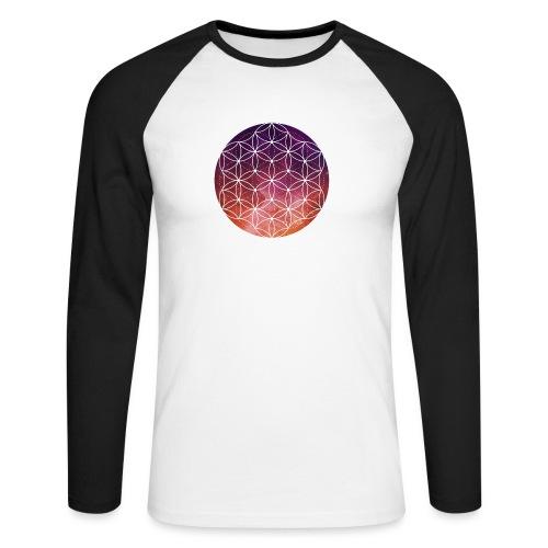 FlowerOfLife Warm - Mannen baseballshirt lange mouw