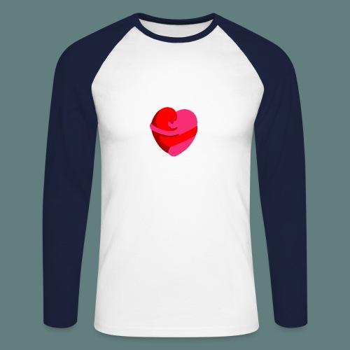 hearts hug - Maglia da baseball a manica lunga da uomo