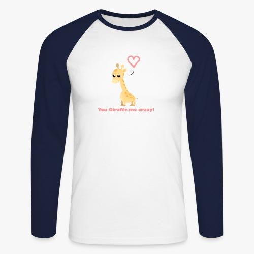 Giraffe Me Crazy - Langærmet herre-baseballshirt