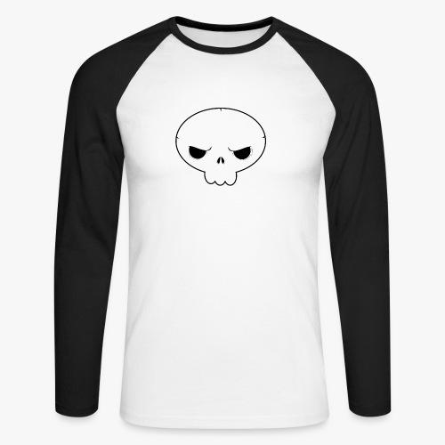 Skullie - Langærmet herre-baseballshirt