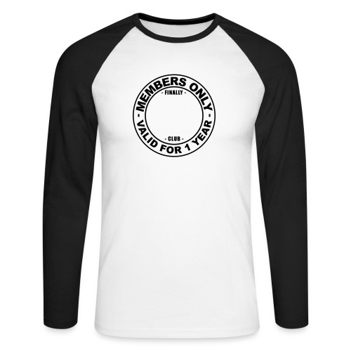 Finally XX club (template) - Men's Long Sleeve Baseball T-Shirt