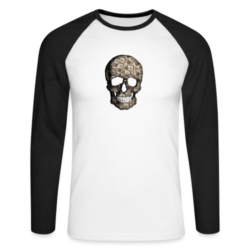 Skull Money Black - Raglán manga larga hombre