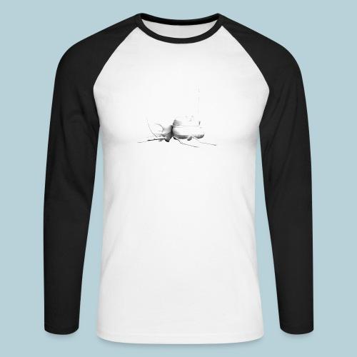RATWORKS Luna Stag Beetle - Men's Long Sleeve Baseball T-Shirt