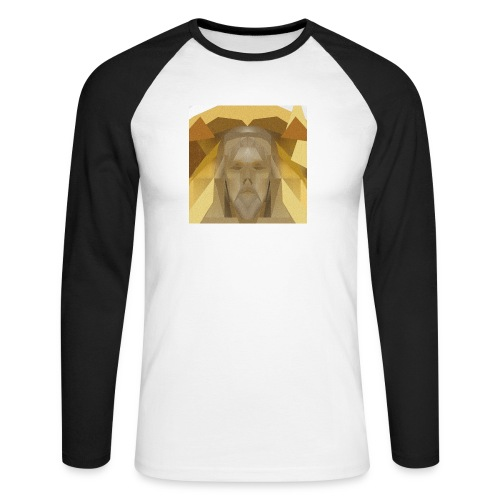 In awe of Jesus - Men's Long Sleeve Baseball T-Shirt