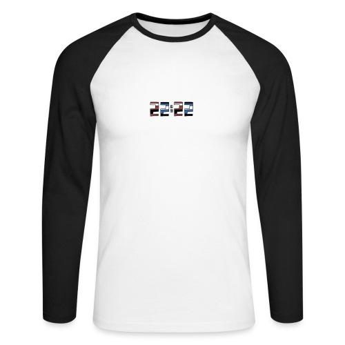 22:22 buttons - Mannen baseballshirt lange mouw