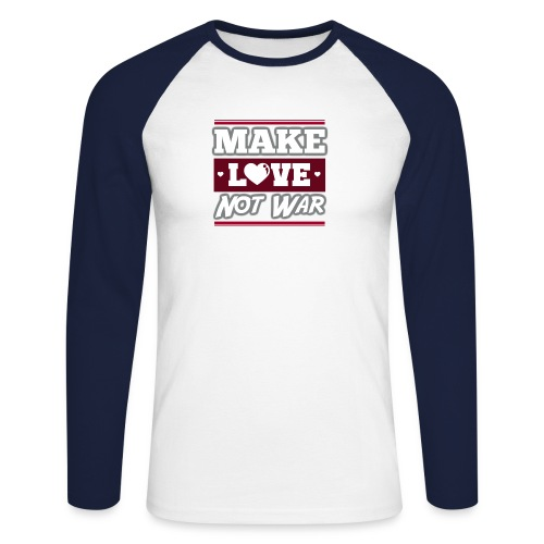 Make_love_not_war by Lattapon - Langærmet herre-baseballshirt