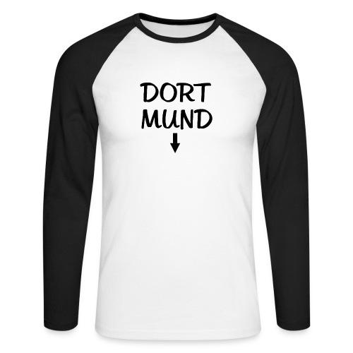 Dortmund Witzig Weiß - Männer Baseballshirt langarm