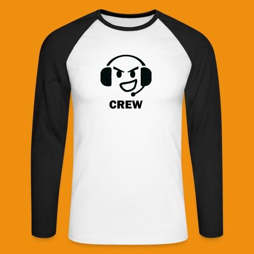 T-shirt-front - Langærmet herre-baseballshirt