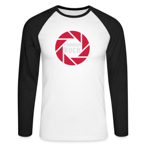I shoot Rock (white) - Männer Baseballshirt langarm