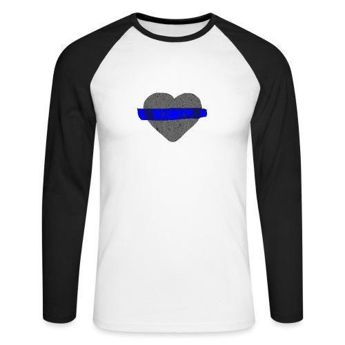 serduszko blu - Koszulka męska bejsbolowa z długim rękawem