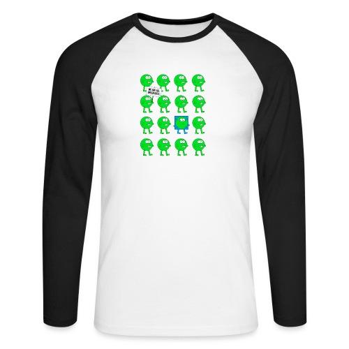 We are all green dots! - Männer Baseballshirt langarm