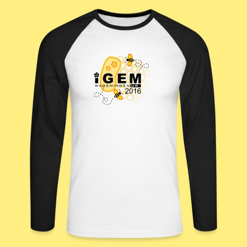 Logo - mug - Mannen baseballshirt lange mouw
