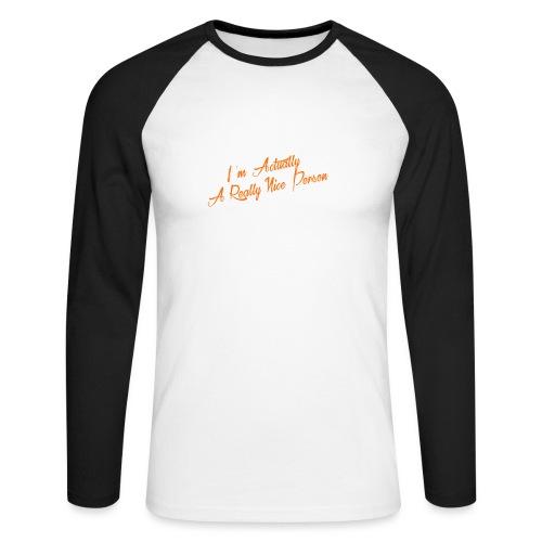 nice-person - Men's Long Sleeve Baseball T-Shirt