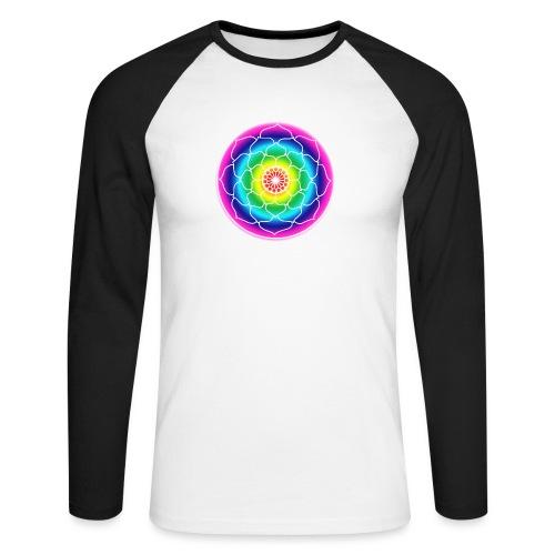 Rainbow Lotus Mandala - Men's Long Sleeve Baseball T-Shirt