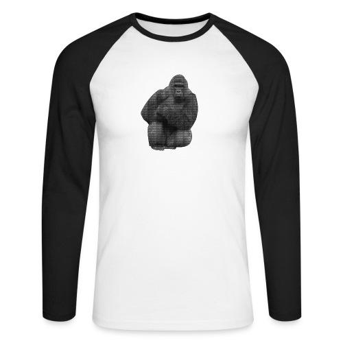 harambe 2k png - Langærmet herre-baseballshirt