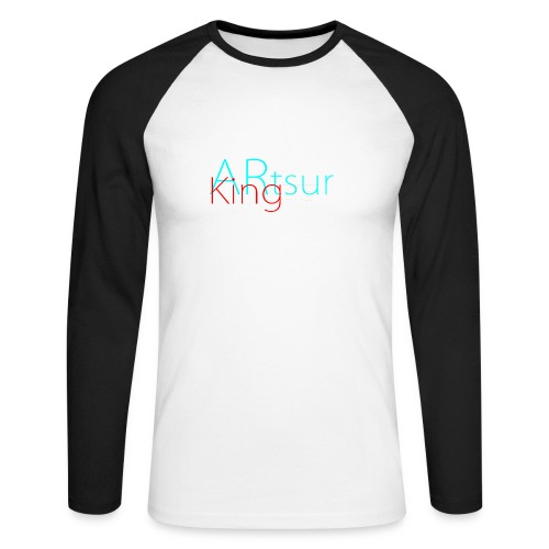 ARtsurKing Logo - Men's Long Sleeve Baseball T-Shirt