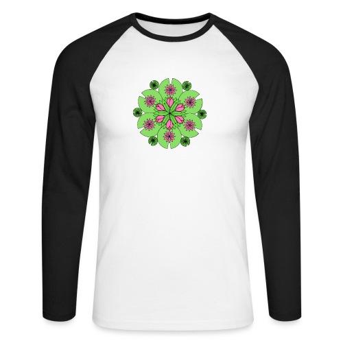 Pond Lotus Mandala - Men's Long Sleeve Baseball T-Shirt