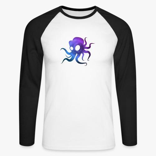 Space Squid - Langærmet herre-baseballshirt