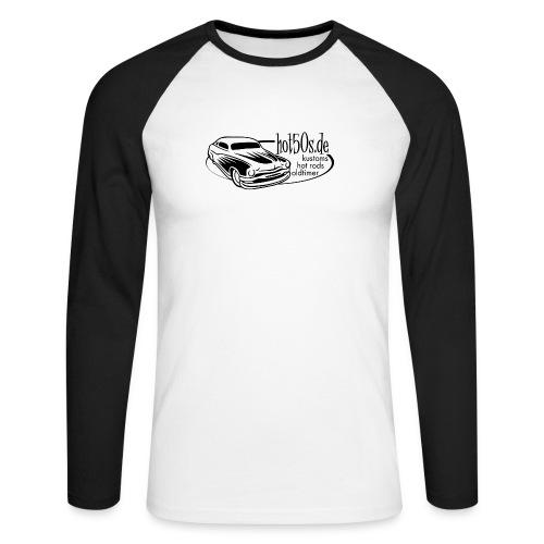 Hot50s Logo - Männer Baseballshirt langarm
