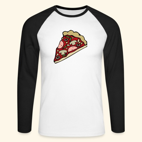 Pizza - T-shirt baseball manches longues Homme