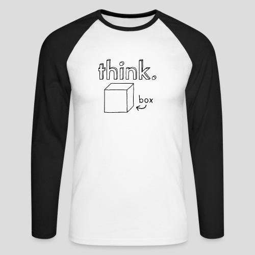 Think Outside The Box Illustration - Men's Long Sleeve Baseball T-Shirt