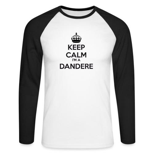 Dandere keep calm - Men's Long Sleeve Baseball T-Shirt