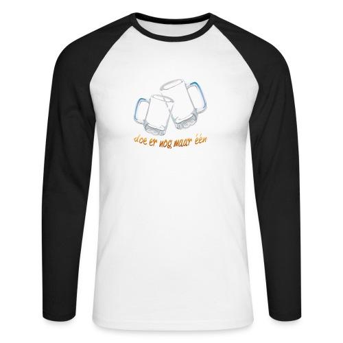 Doe er nog maar een Shirt png - Mannen baseballshirt lange mouw